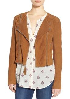 Paige Denim 'Tiana' Crop Suede Moto Jacket
