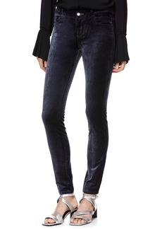 Paige Denim PAIGE Verdugo Stretch Velvet Skinny Pants (Midnight Slate)