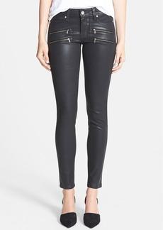 Paige Denim PAIGE 'Edgemont' Coated Ultra Skinny Jeans (Black Silk)