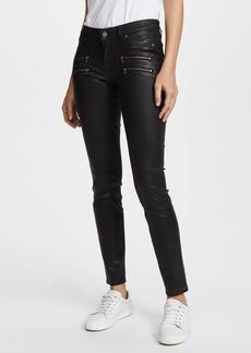 Paige Denim PAIGE Edgemont Ultra Skinny Black Silk Wash w/Zips