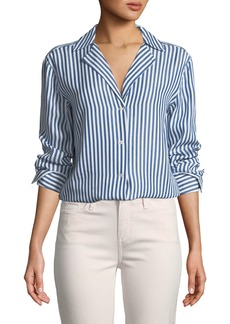 Paige Denim Elora Button-Down Striped Shirt