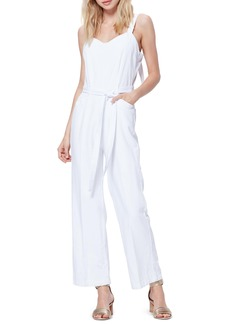 PAIGE Emma Tie Waist Cotton Blend Jumpsuit