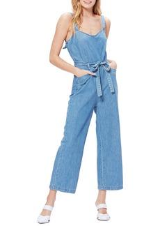 PAIGE Emma Tie Waist Cotton Jumpsuit