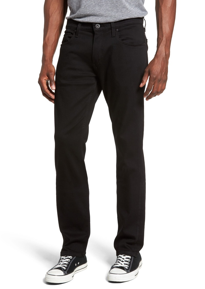 PAIGE Federal Slim Straight Leg Jeans (Black Shadow)