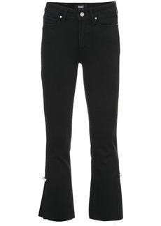 Paige Denim Paige flared cropped jeans - Black