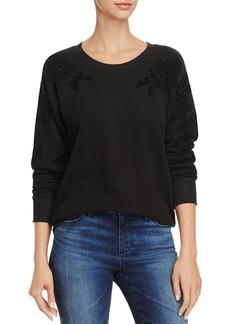 Paige Denim PAIGE Foxxy Velvet-Floral Sweatshirt