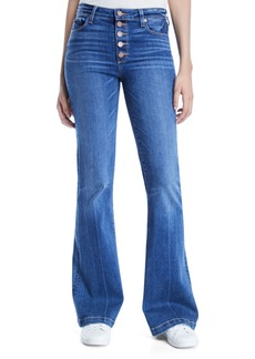 Paige Denim PAIGE Genevieve Flare-Leg Jeans with Button Fly