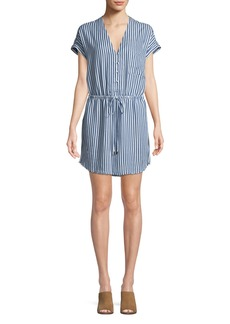 Paige Denim Haidee V-Neck Striped Dress