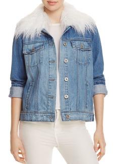 Paige Denim PAIGE Heidi Denim Faux Fur Collar Jacket - 100% Exclusive