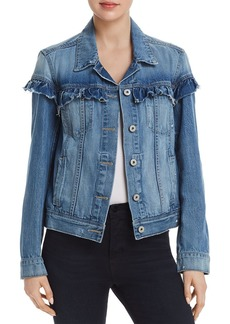 Paige Denim PAIGE Heidi Ruffled Denim Jacket in Damonde - 100% Exclusive