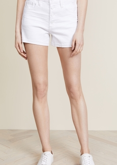 Paige Denim PAIGE High Rise Sarah Shorts with Exposed Buttons