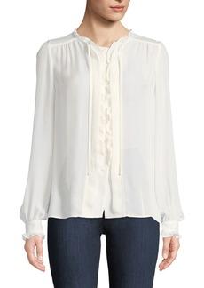 Paige Denim Honor Button-Front Silk Blouse