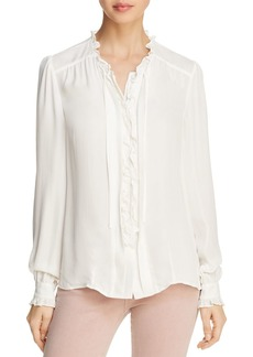 Paige Denim PAIGE Honor Ruffled Silk Blouse