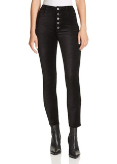 Paige Denim PAIGE Hoxton Ankle Straight Velvet Jeans in Black Overdye
