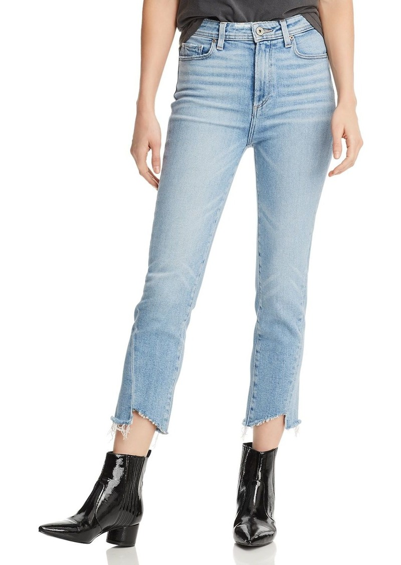 PAIGE Hoxton High-Rise Slim Crop Jeans in Carlotta