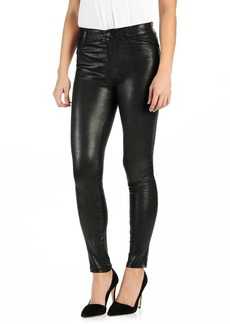 Paige Denim PAIGE 'Hoxton' High Rise Ultra Skinny Leather Pants