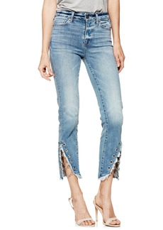 Paige Denim PAIGE Hoxton High Waist Ankle Straight Leg Jeans (Olympic)