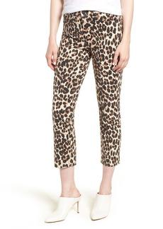 PAIGE Hoxton High Waist Ankle Straight Leg Jeans (Sahara Leopard)