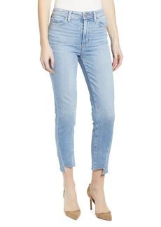 Paige Denim PAIGE Hoxton High Waist Raw Hem Ankle Skinny Jeans (Carlotta)
