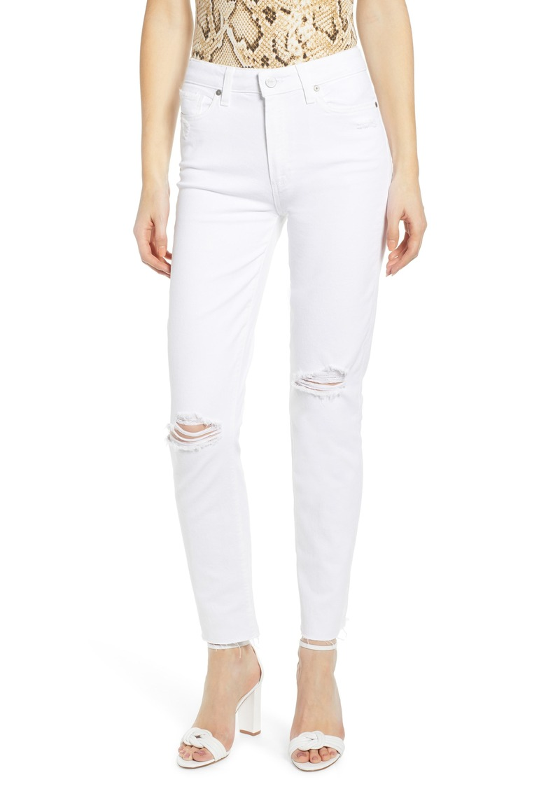 904ef9a9053e Paige Denim PAIGE Hoxton High Waist Ripped Raw Hem Ankle Skinny Jeans  (Bianca Destructed)