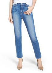 PAIGE Vintage Hoxton High Waist Slim Raw Hem Jeans (Birdie)