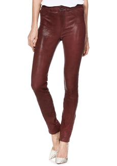 Paige Denim PAIGE Hoxton High Waist Ultra Skinny Leather Pants