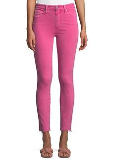 Paige Denim PAIGE Hoxton Skinny Ankle Jeans with Raw-Hem
