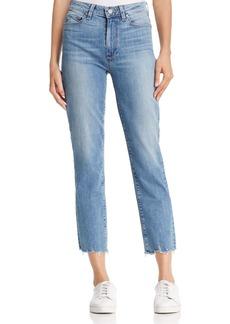 PAIGE Jacqueline Straight Distressed-Hem Jeans in Elmira - 100% Exclusive