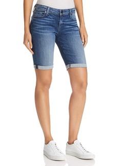 Paige Denim PAIGE Jax Denim Knee Shorts in Bloomfield