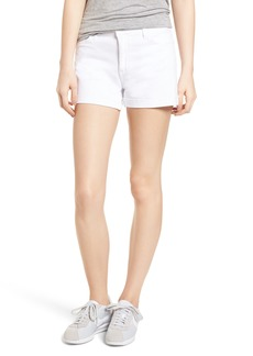 Paige Denim PAIGE Jimmy Jimmy High Waist Denim Shorts (Crisp White)