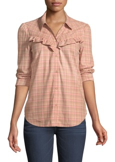 Paige Denim Kamie Long-Sleeve Plaid Button-Down Shirt