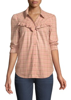 Paige Denim PAIGE Kamie Long-Sleeve Plaid Button-Down Shirt