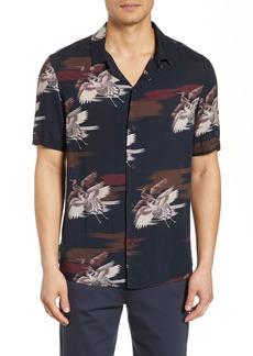 Paige Denim PAIGE Landon Bird Print Camp Shirt