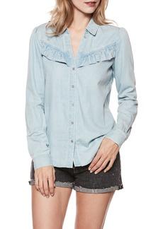 Paige Denim PAIGE Layda Ruffle Western Chambray Shirt