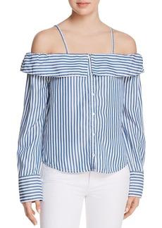 Paige Denim PAIGE Lunetta Cold-Shoulder Shirt - 100% Exclusive