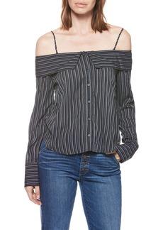 Paige Denim PAIGE Lunetta Stripe Off the Shoulder Top