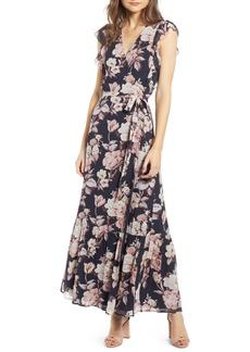PAIGE Maquel Silk Maxi Wrap Dress