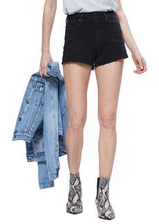 Paige Denim PAIGE 'Margot' High Rise Cutoff Denim Shorts (Vintage Black)