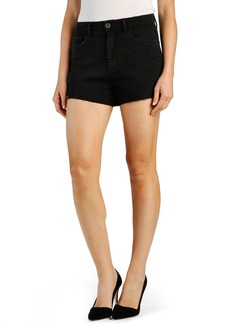 Paige Denim PAIGE 'Margot' High Rise Cutoff Denim Shorts (Vintage Black)