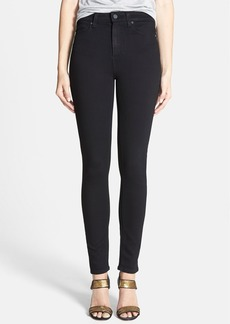 Paige Denim PAIGE Transcend - Margot High Waist Ultra Skinny Jeans (Black Shadow)