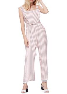 PAIGE Marino Stripe Ruffle Jumpsuit