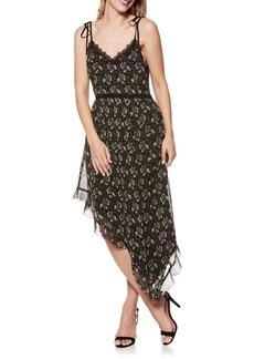 Paige Denim PAIGE Maxima Floral Asymmetrical Silk Dress