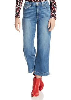 PAIGE Nellie Crop Wide Leg Jeans in Leigh