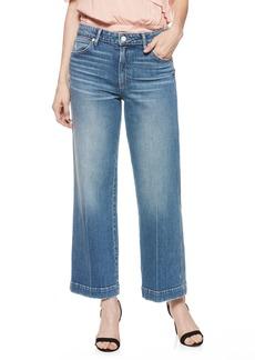 PAIGE Nellie High Waist Culotte Jeans (Indigo with Pink Stitch)