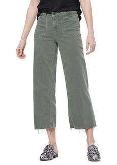 Paige Denim PAIGE Nellie Utility Detail Raw Hem Jeans (Vintage Ivy Green)