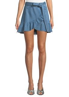 Paige Denim PAIGE Nivelle Denim Tulip Skirt