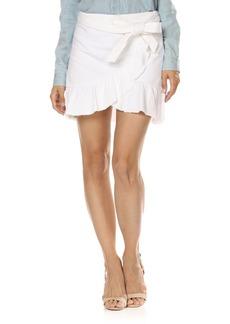 Paige Denim PAIGE Nivelle Ruffle Denim Skirt (Crisp White)