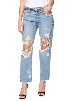 Paige Denim PAIGE Noella Ripped Straight Leg Jeans (Jovie Destructed)