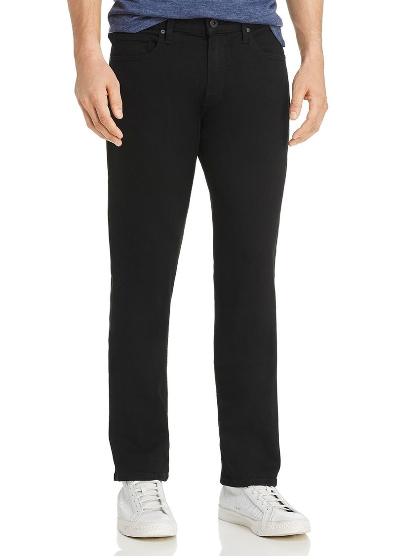 PAIGE Normandie Straight Fit Jeans in Black Shadow