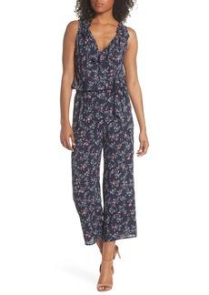 Paige Denim PAIGE Paletta Floral Print Crop Jumpsuit